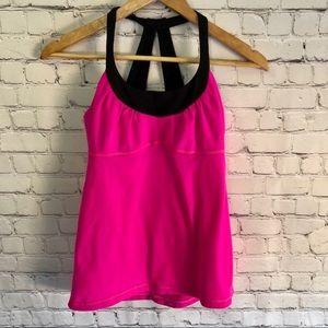 LULULEMON Pink/Black Tank Top Size 6